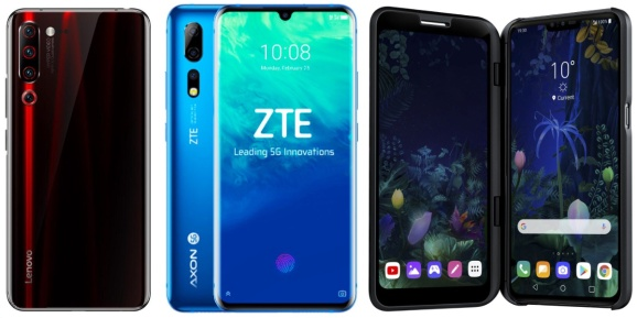 Lenovo, ZTE, and LG all have 5G smartphones ready to go -- assuming 5G networks are ready for them.