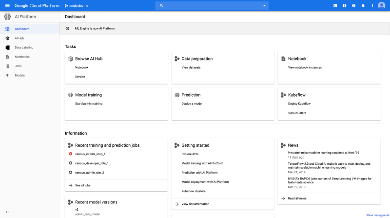 Google launches AI Platform, a collaborative model-making tool for