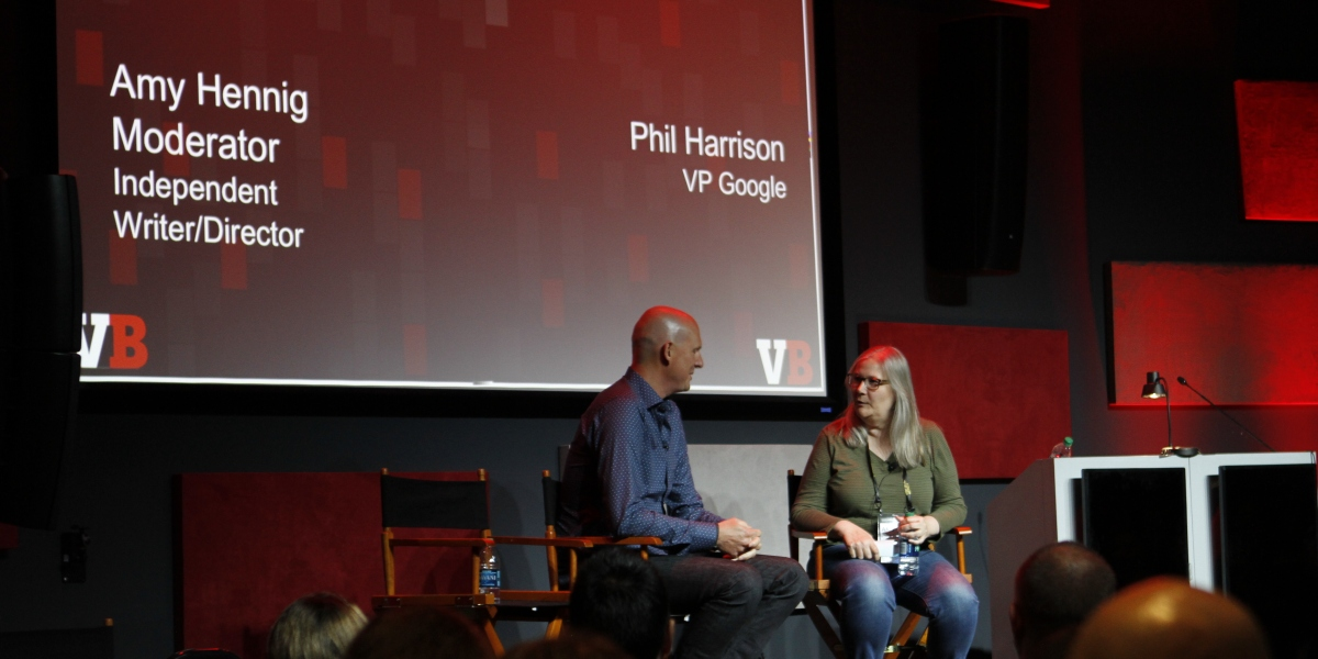 Phil Harrison and Amy Hennig at GB Summit 2019.