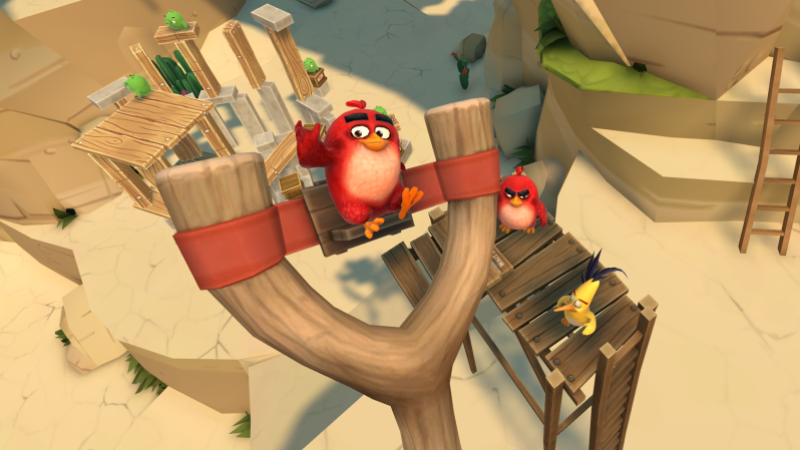 Resolution brought Angry Birds to VR for the first time.