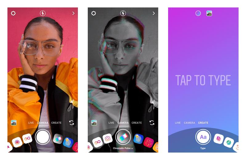 Instagram camera and Create Mode