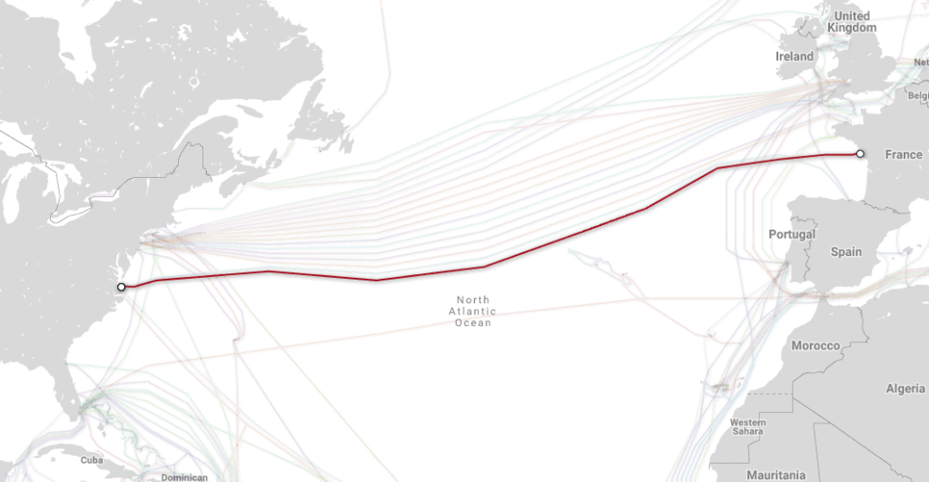 The Dunant cable is expected to be complete in late 2020. It's owned entirely by Google.