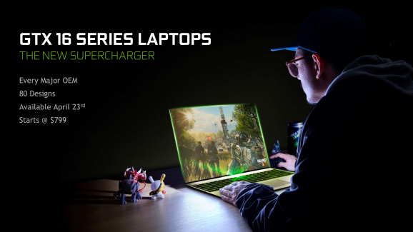 Nvidia introduces its new GTX 16-series of laptops.