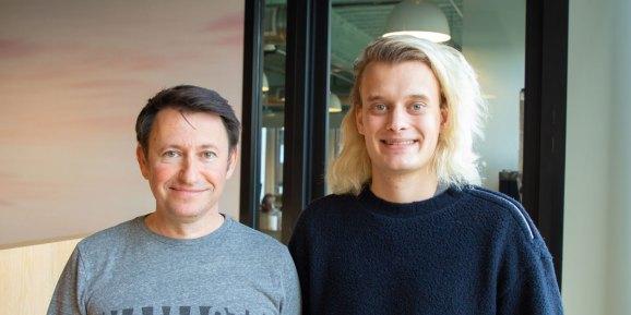 Dmitry Shapiro, CEO of GoMeta (left), and Sean.