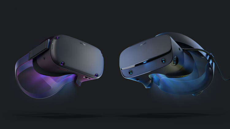 The Oculus Quest (left) and the Oculus Rift launch May 21.