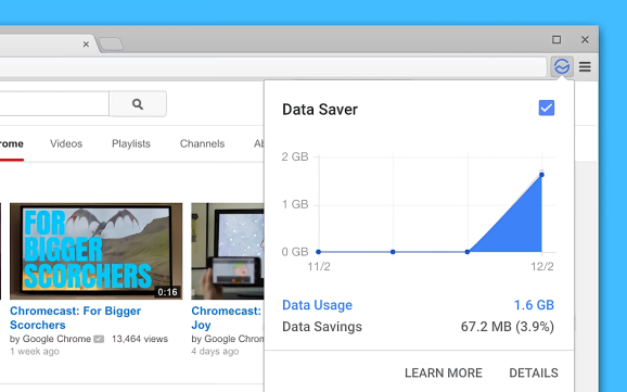 Google Chrome Data Saver