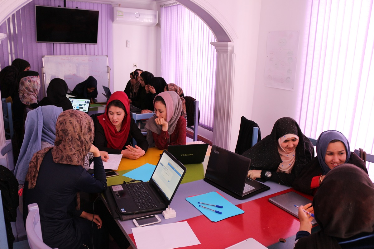 photo of Code to Inspire trains girls to code and make games in Afghanistan image