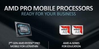 AMD debuts 2nd-gen AMD Ryzen Pro mobile processors