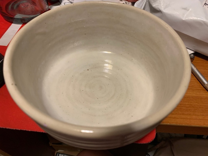 Chris Taylor of Kanoogi gave Dean Takaahshi this bowl.