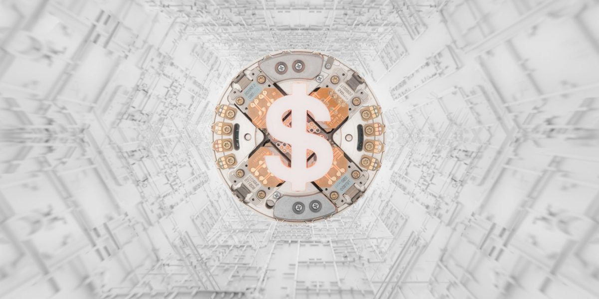 Cryptocurrency concept super processor machine or it can be a process, a concept, cryptocurrency exchange process. A psychedelic process of data mining, crypto wallet ...