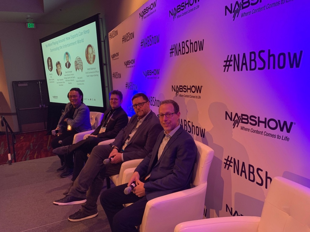 Esports panel at NAB, right to left: