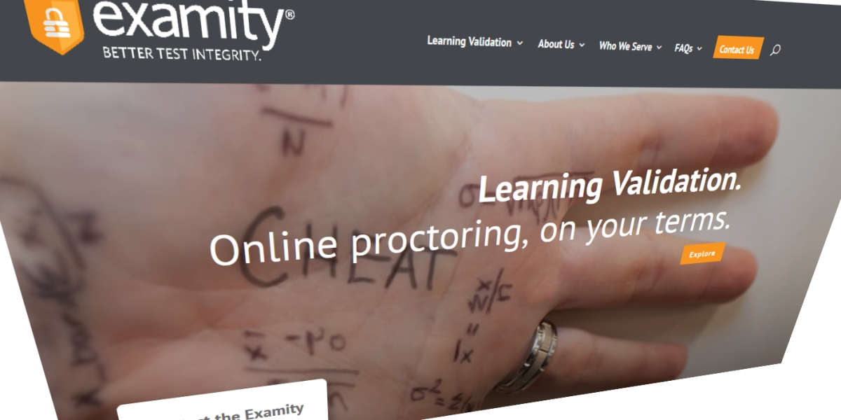Examity homepage