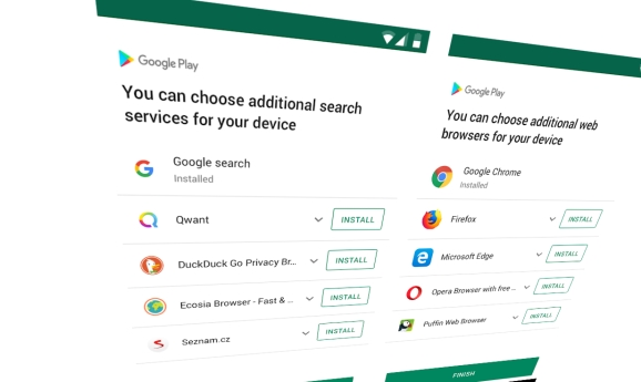 Google is rolling out new browser and search engine options for Android users in Europe