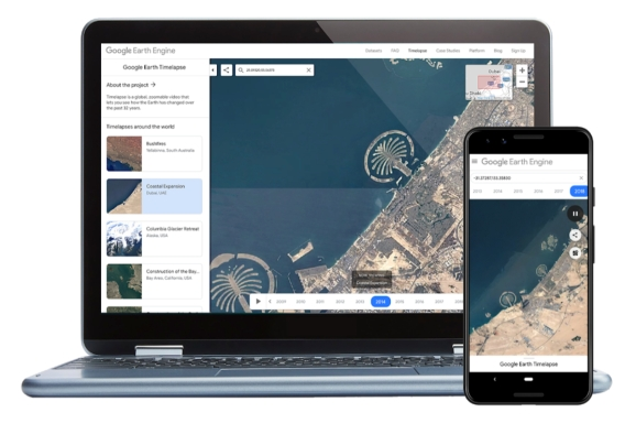 Google Earth Timelapse: Now on mobile