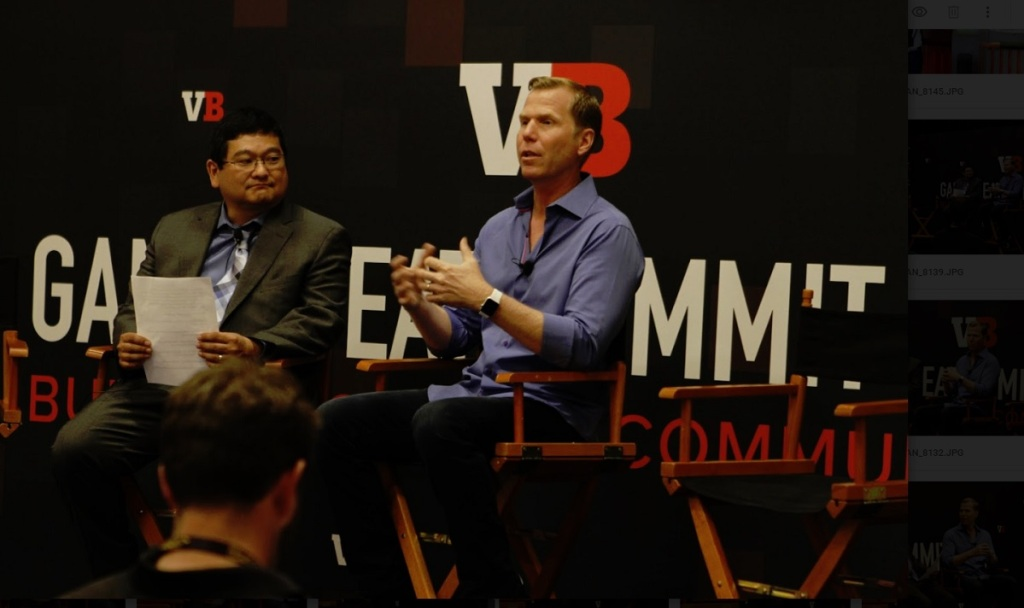 Dean Takahashi and Michael Condrey speak at GamesBeat Summit 2019.