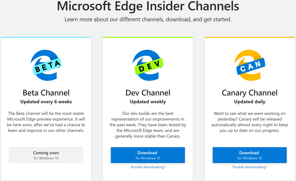 Microsoft launches first Chromium Edge builds for Windows 10