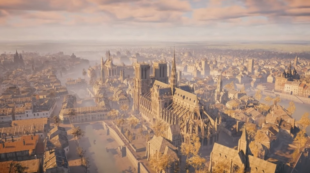 Notre Dame as it once was.