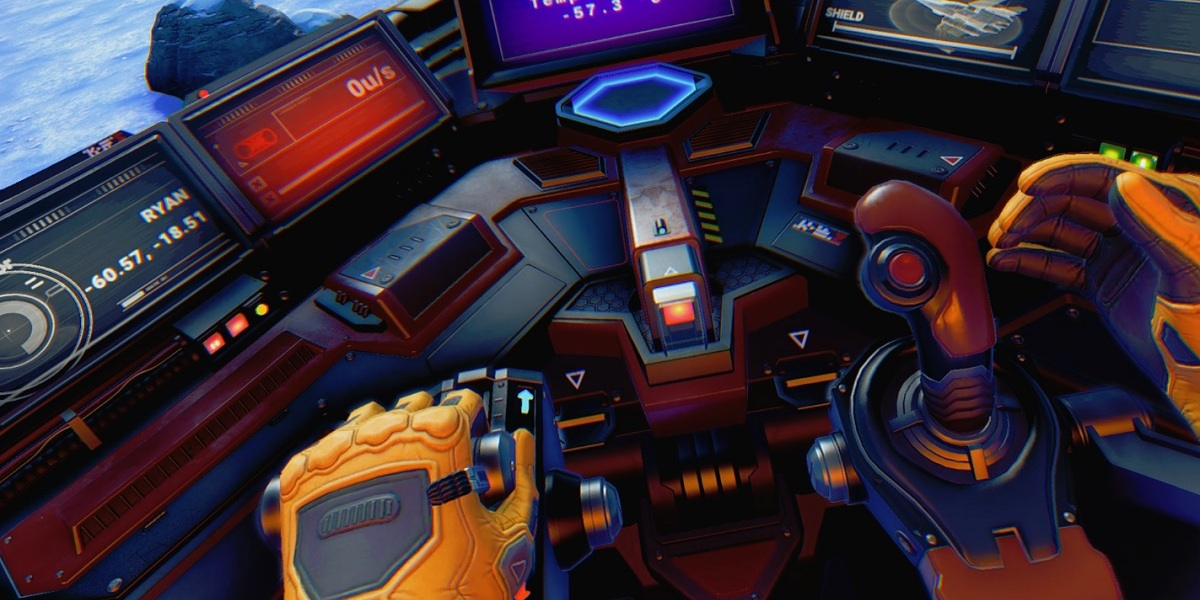 You can use your hands to fly a ship in No Man's Sky Beyond VR.