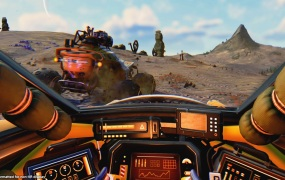 You can get in a vehicle in No Man's Sky Beyond VR.