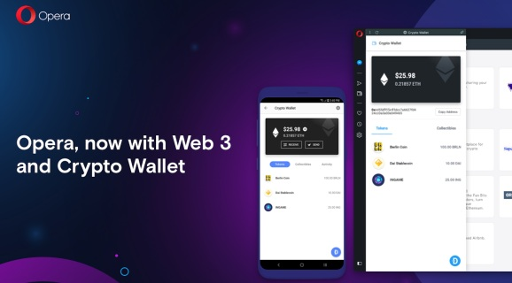 Opera adds crypto wallet to its desktop browser, launches anti