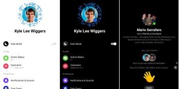 Facebook Messenger gets a dark mode