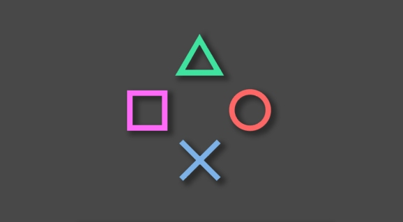 The iconic PlayStation buttons.
