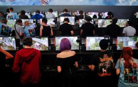 Gamers play video games during the opening of the world's largest computer games fair Gamescom in Cologne, Germany, August 22, 2017.