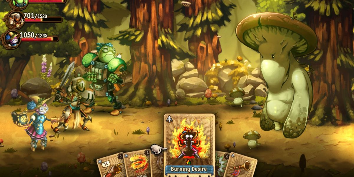 SteamWorld Quest's card system is great.