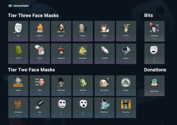 You can now wear face masks as a streamer on Twitch, thanks to Streamlabs.