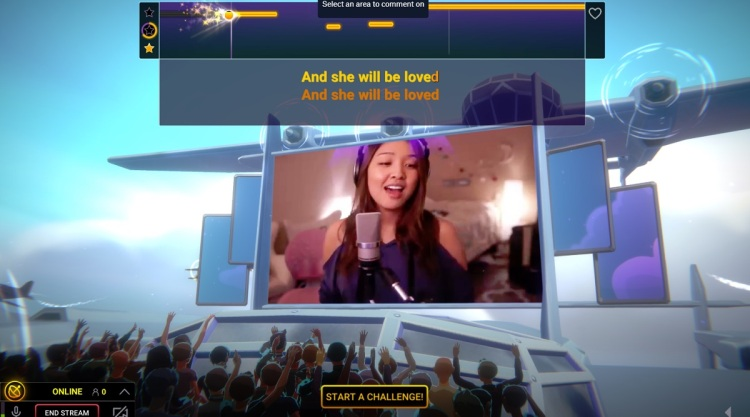 You can sing solos or duets or challenges in Twitch Sings.