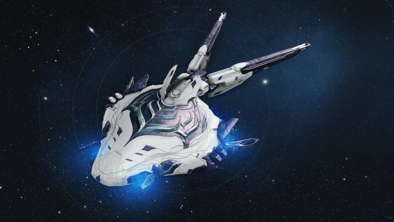 Warframe's Liset landing craft.