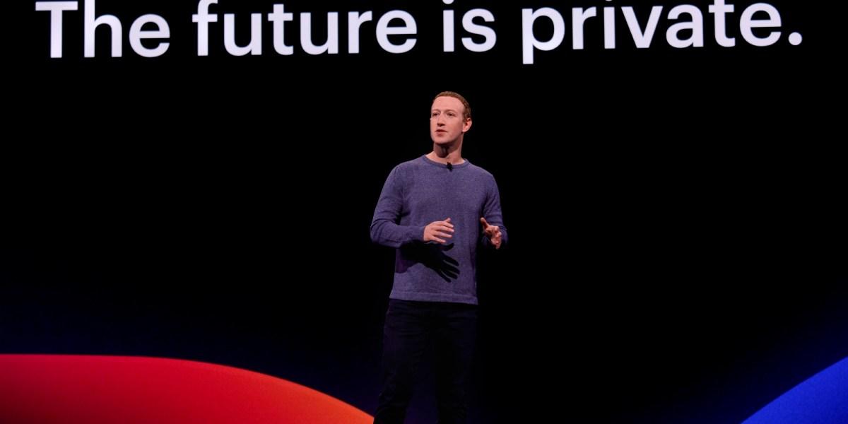 The future is private, according to Facebook's Mark Zuckerberg