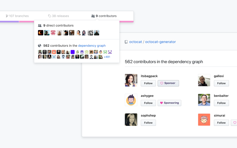 GitHub adds donation button, token scanning, and enterprise