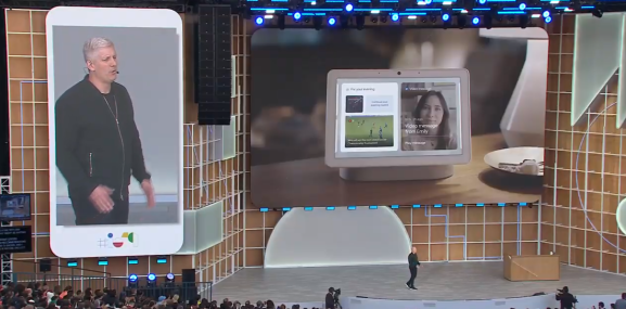 The Google Hub Max 3 was announced onstage at I/O 2019.