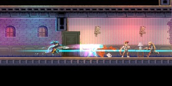 Slicing through bad guys in Katana Zero.