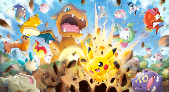 Concept art for Pokémon Rumble Rush.