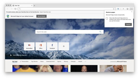 Microsoft's Edge browser is available now in beta for macOS.