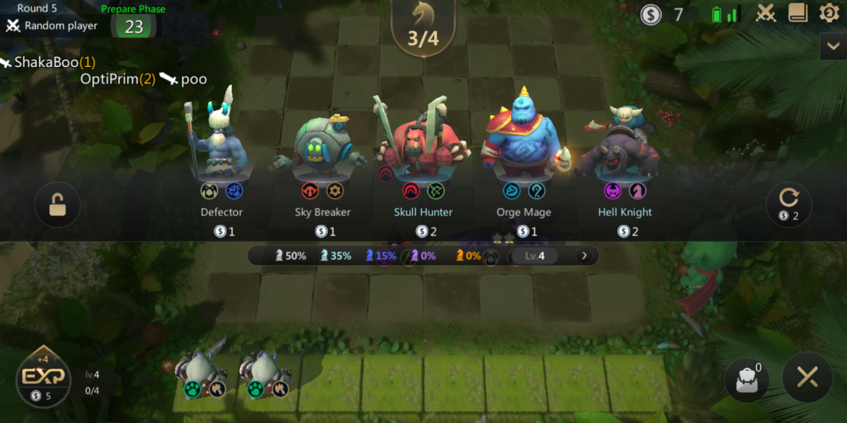 The Auto Chess mobile beta still has some localization quirks.