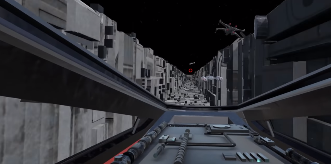 Fan Made Star Wars Vr Death Star Trench Run Also Researches Sim