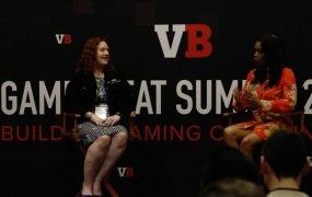 Gabi Michel (left), senior hardware program manager with Microsoft Devices, moderated by Keisha Howard, founder of Sugar Gamers.
