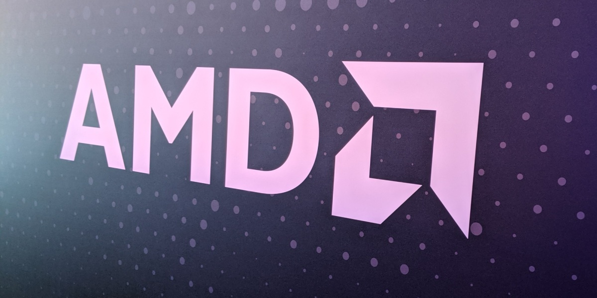 AMD logo at the first Computex 2019 keynote