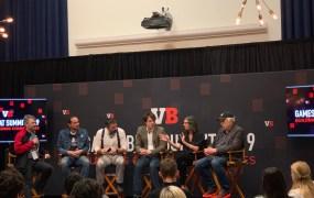 Bushnell family panel: (left to right) Jason Robar, Tyler Bushnell, Brent Bushnell, Wyatt Bushnell, Alissa Bushnell, and Nolan Bushnell.