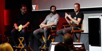 Left to right: Chris Heatherly of NBC Universal, Michael Fox of Endless Entertainment, and Sean Krankel of Night School Studio.