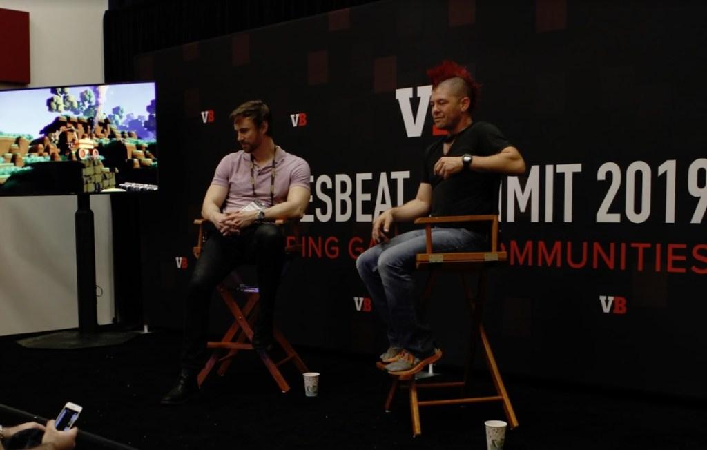 John Krajewski (left), CEO of Strange Loop Games, and Eric Gradman, CTO and mad man at Two Bit Circus.