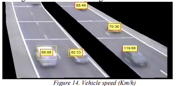 Highway monitoring system tracks vehicles using camera data