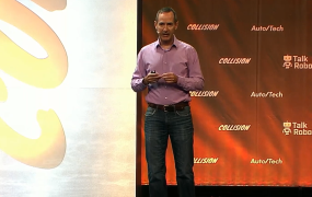 Dominic Mallinson onstage at Collision 2019 in Toronto
