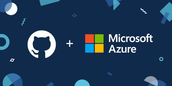 GitHub and Azure logos