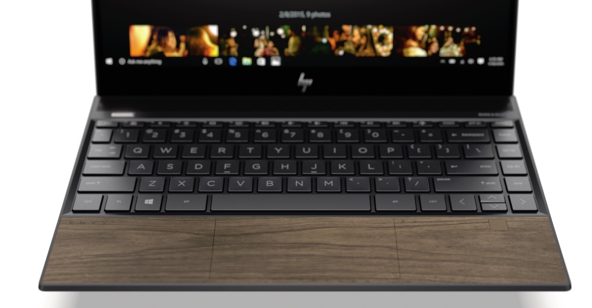 HP Envy 13 has a wooden panel.