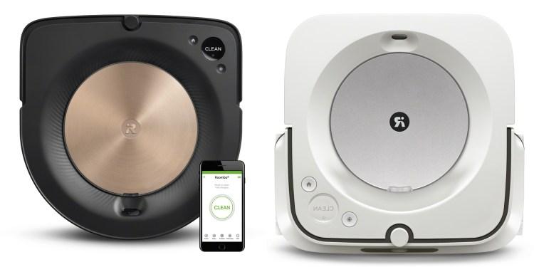 iRobot's Roomba s9 (left) and Braava Jet m6 (right)