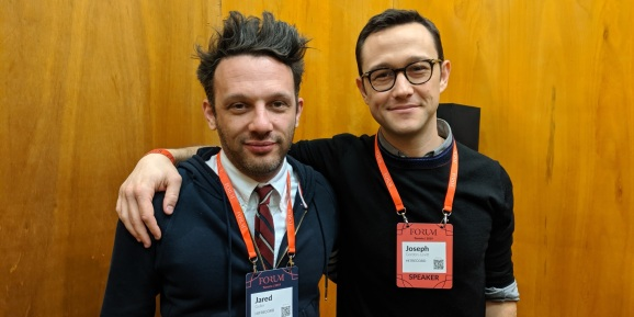 HitRecord's Jared Geller (left) and Joseph Gordon-Levitt (right)